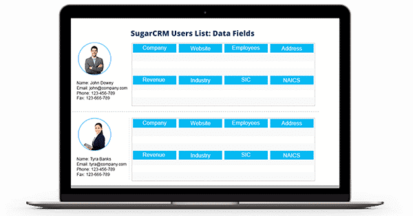 SugarCRM Users List