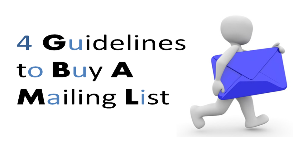 4 Guidelines to Buy a Mailing List
