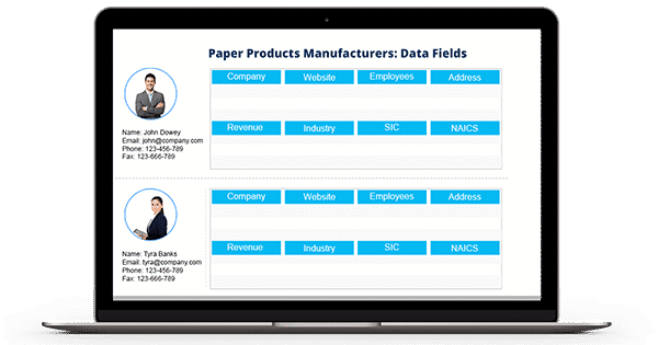 Paper Products Manufacturers Email List