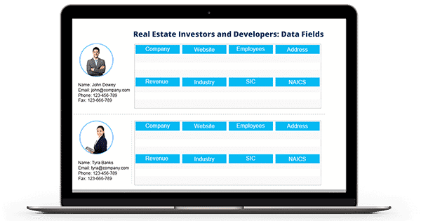 Real Estate Investors and Developers Mailing List