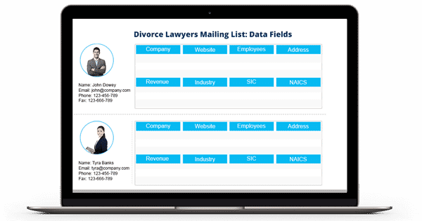 Divorce Lawyers Mailing List