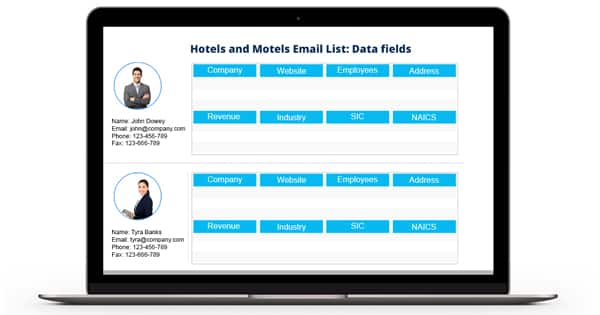 Hotels and Motels Email List