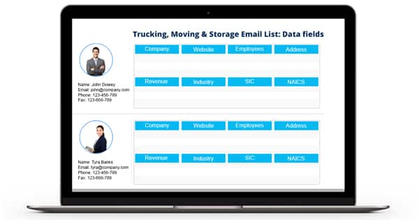 Trucking Moving & Storage Email List