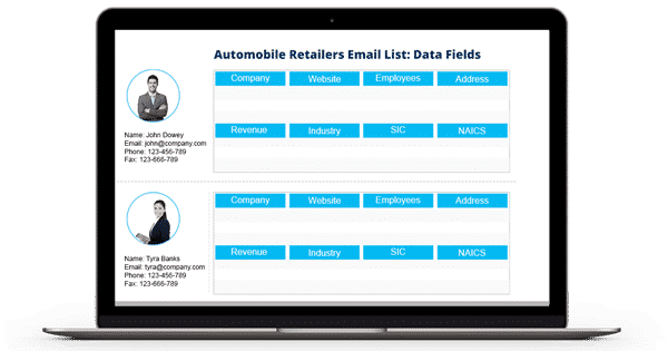 Automobile-Retailers-Email-List-Data-Fields
