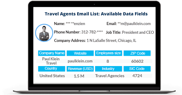 Travel Agents Email List